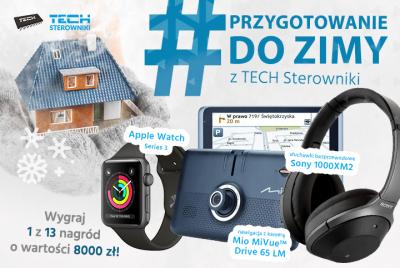 Moc atrakcyjnych nagród do wygrania w zimowym konkursie TECH Sterowniki