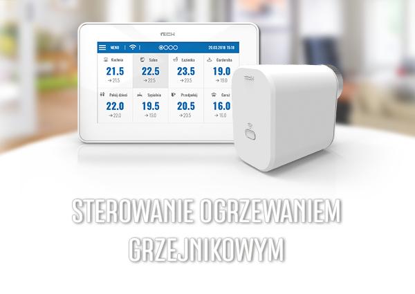 Termostat grzejnikowy WiFi 8S - główny element sterowania ogrzewaniem - regulatory i akcesoria - TECH Sterowniki