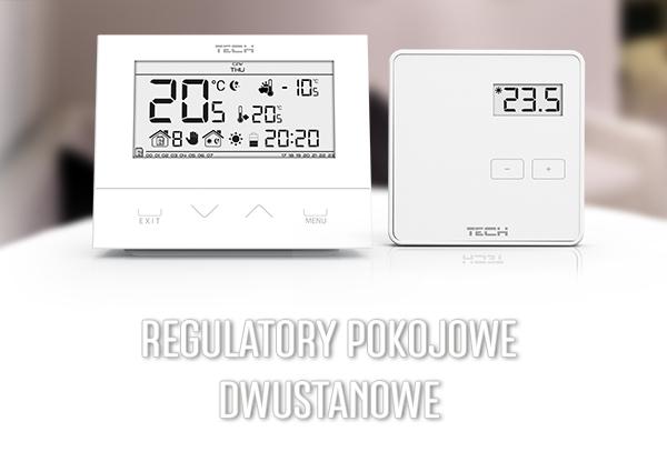 Regulatory temperatury - przewodowe i bezprzewodowe termostaty pokojowe - TECH Sterowniki