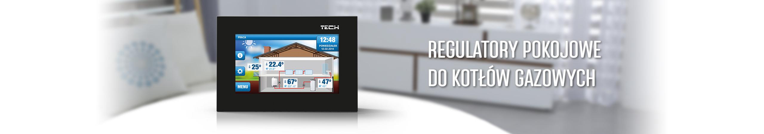 Sterownik do pieca gazowego - termostat pokojowy, regulator programowalny - TECH Sterowniki
