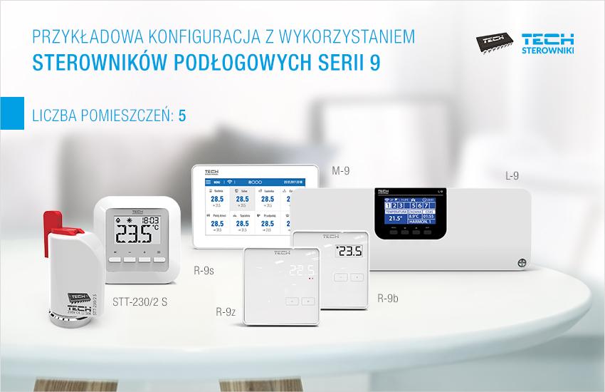 Пример конфигурации с использованием напольных контроллеров серии 9