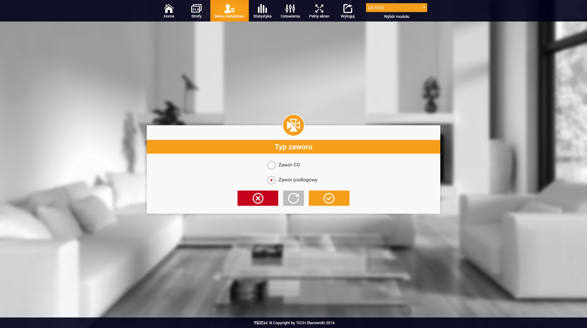 emoduleu - menu instalatora