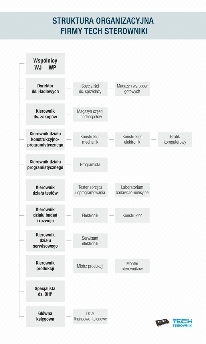 Struktura organizacyjna firmy TECH Sterowniki