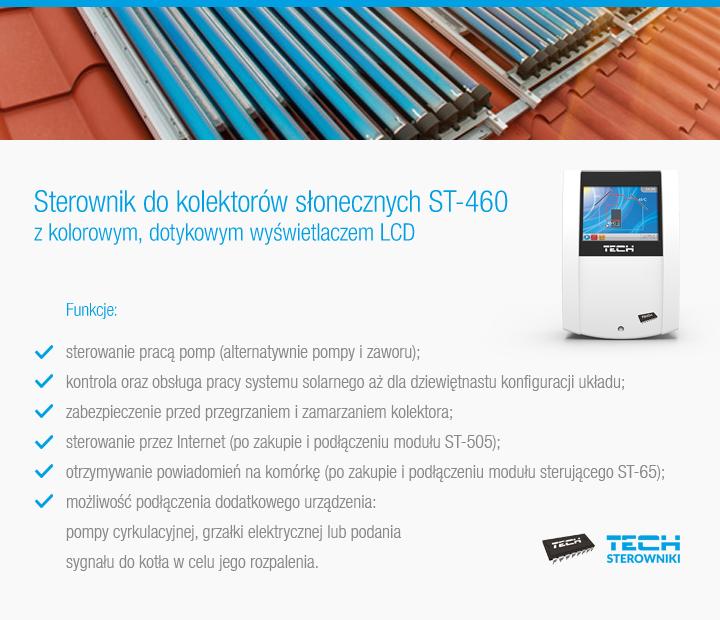 Sterowniki do kolektorów słonecznych ST-460