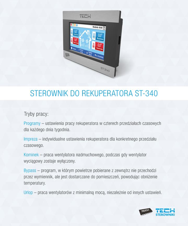 Sterownik do rekuperatora ST-340
