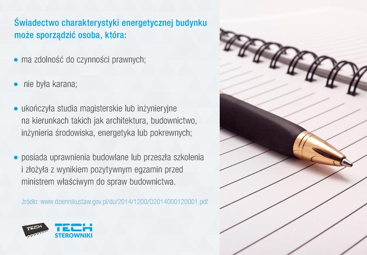 Kto może sporządzić świadectwo charakterystyki energetycznej budynku