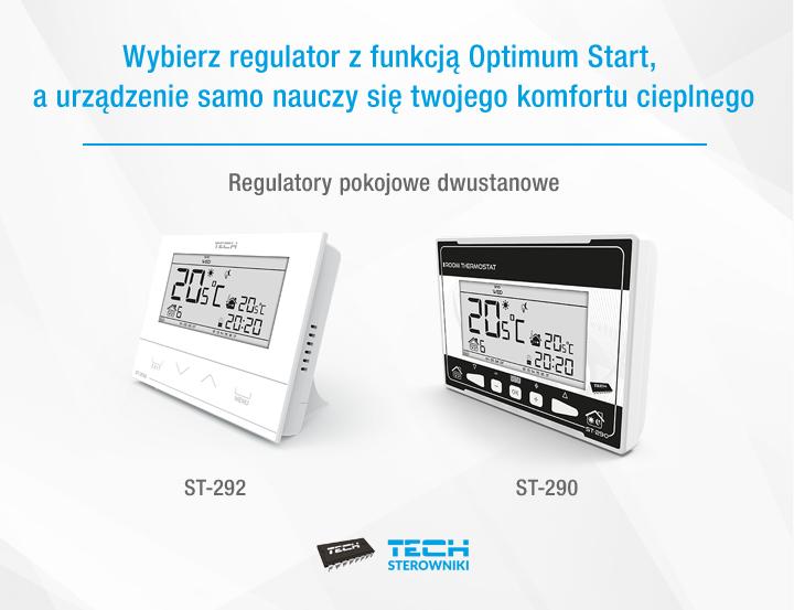 Wybierz regulator z funkcją Optimum Start