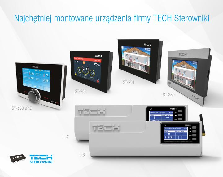 Najchętniej montowane urządzenia firmy TECH Sterowniki